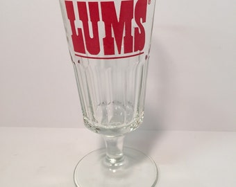 Vintage Lums heavy and thick restaurant glass