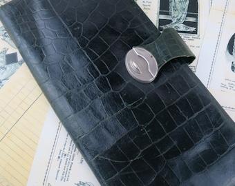 Art Deco Leather Glove & Handkerchief Case