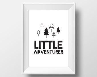 Nursery Printable, Little Kids Room Print, Outdoors Print, Little adventurer, Adventure Print, Nursery Art, Inspirational Print