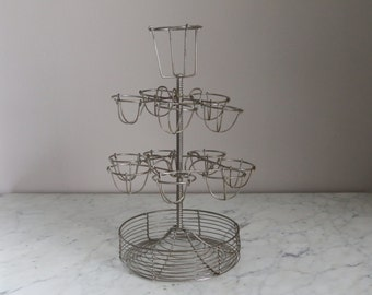 Vintage French Bistro Wire Egg Stand