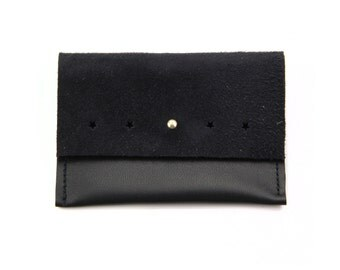 Leather card case. leather wallet . black leather. black card case. black leather wallet