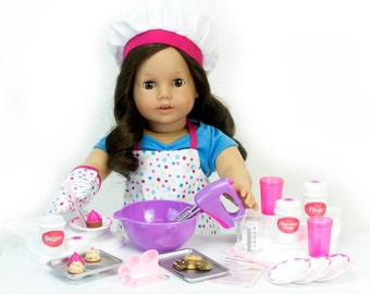 "26 Piece Baking Accessories Set for American Girl 18"" Dolls"
