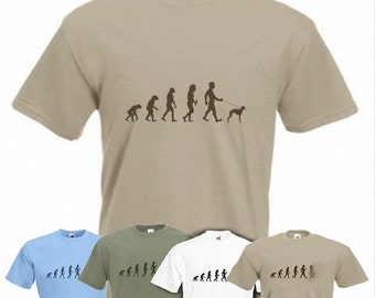 Evolution To Whippet t-shirt Funny Dog T-shirt in sizes Sm to 2XXL