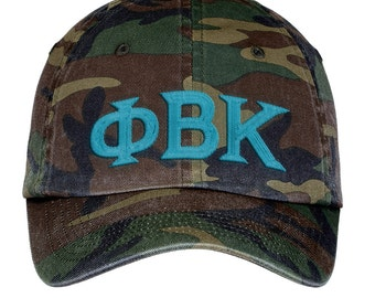 Phi Beta Kappa Lettered Camouflage Hat