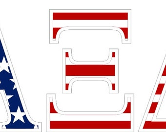 alpha xi delta american flag greek letter sticker 25