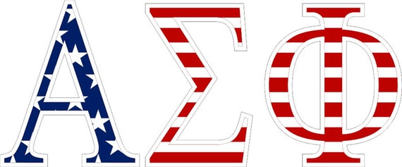 alpha sigma phi american flag greek letter sticker 25
