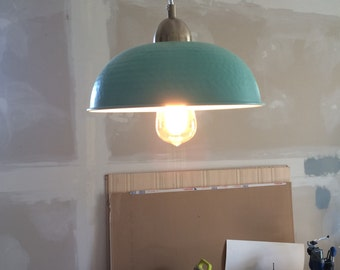 Turquoise Bowl Pendant Light