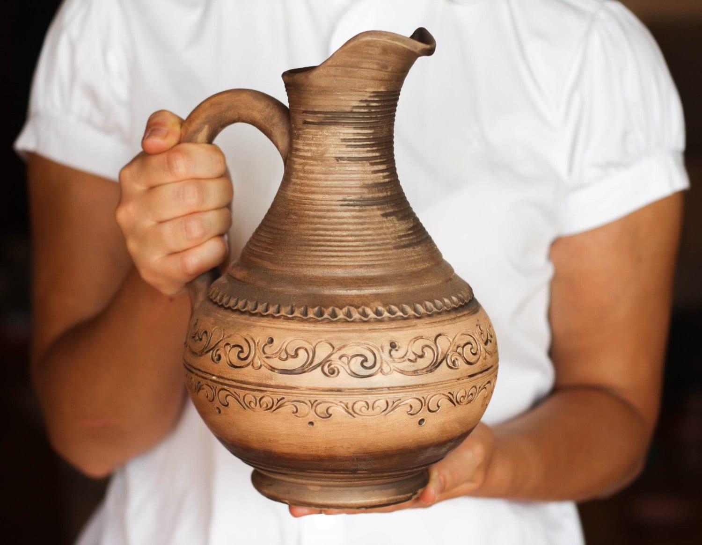 Pottery pitcher Grecian pottery Greek pottery Greece pottery