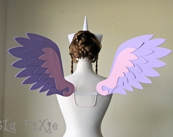Princess Cadence My Little Pony Cosplay Wings, Large Alicorn Pegasus Costume Wings, Adult Kids Halloween Accessories, Brony Cons Festivals