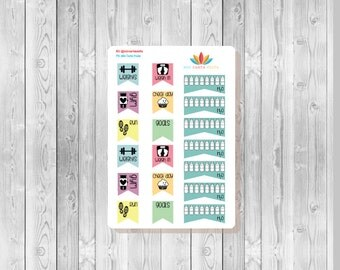 S186 -  19 Fitness Planner Stickers