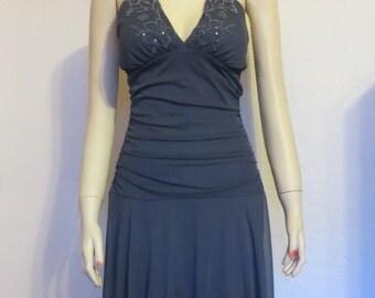 "CLEARANCE SALE! Retro Vintage 50's Marilyn Monroe Style ""Trixxi"" Beaded Bombshell Halter Dress Sz S"