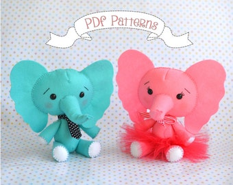 Felt Elephant PDF Sewing Patterns And Tutorials
