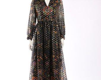 1970s Metallic Party Dress