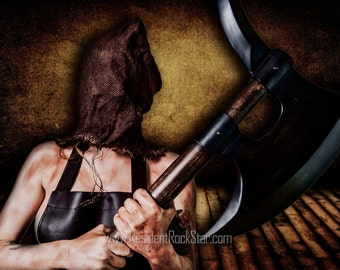 Executioner Model Veronica 20 x 30 inch mounted metallic ready to hang print
