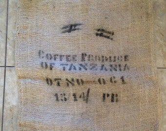Produce of Tanzania Burlap Coffee Sacks