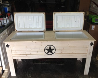 Double Wood Cooler Stand
