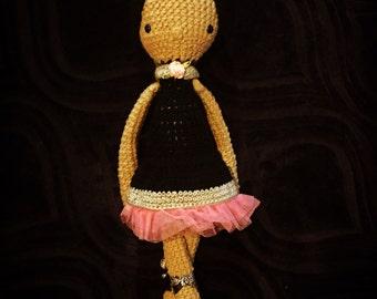 Ballerina baby doll ballet amigurumi stuffie