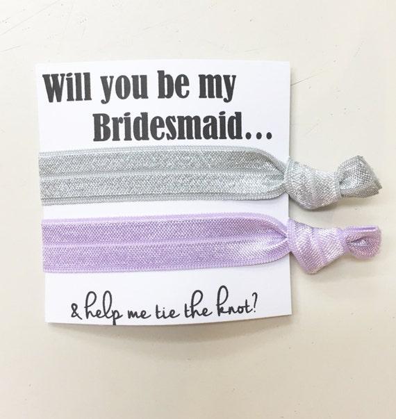 Bridesmaid hair tie favors//hair tie card, bridesmaid hair ties, hair tie favor, bachelorette, wedding, bride, party favor, bridesmaid box