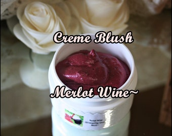 Creamy Merlot Wine Sheer Blush~Aloe Vera & Shea Butter Based To Pamper Your Skin~