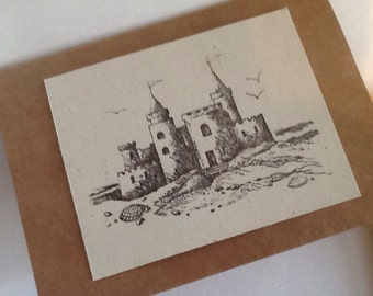 Sandcastle note cards