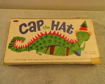 Vintage 1965 Whtiman Cap The Hat Board Game Number 4794