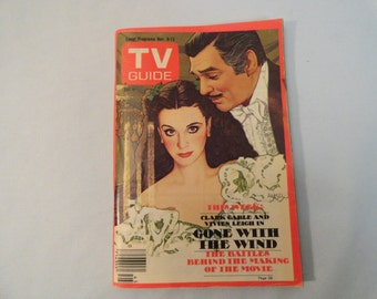 Vintage 1976 TV Guide With Clark Gable and Vivien Leigh Gone With The Wind