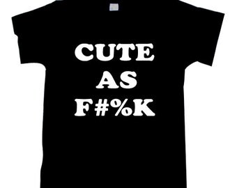 cute as f%k logo t-shirt, t-shirt  T1237