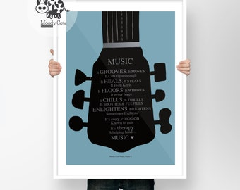 Music Prints | Music Art | Music Lover Gift | Music Lover | Literary Gift| Music Wall Art | Music Decor | Fathers Day Gift | Wall Art|