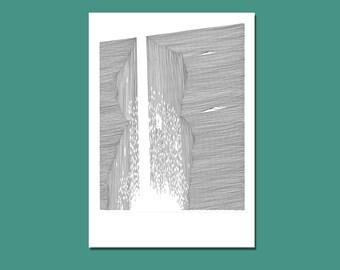 ORIGINAL DRAWING - WATERFALL