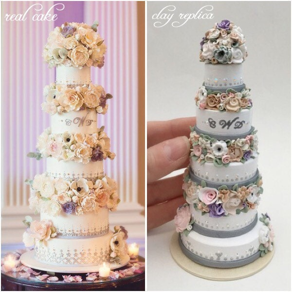 Wedding Cake Replica Wedding Cake Ornament 1st By
