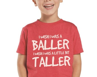 I Wish I Was a Baller Toddler and Kids Shirt