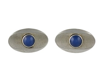 Lindy star sapphire etsy 14k white gold lindy star sapphire cufflinks sciox Image collections
