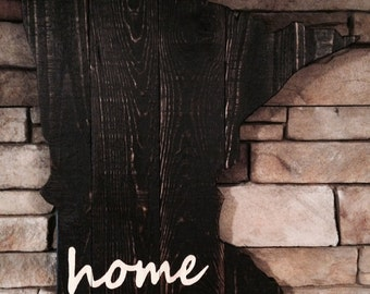 MN Home Sign Made From Reclaimed Wood - Minnesota Sign - Rustic - Home decor
