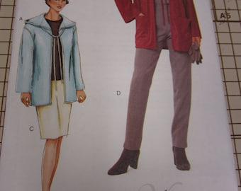 Vogue, Woman, 7344, Pattern, Ladies, Jacket, Skirt, Pants, Size 6, 8, 10, Mailed From Canada