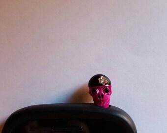 Very Cute Skull Anti Dust Plug Phone Accessories Charm Headphone Jack Earphone Cap