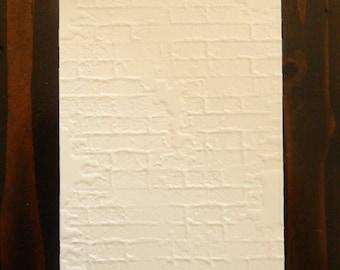 Rustic Brick Embossed Cardstock, Embossed Sheets, Embossed Card Fronts