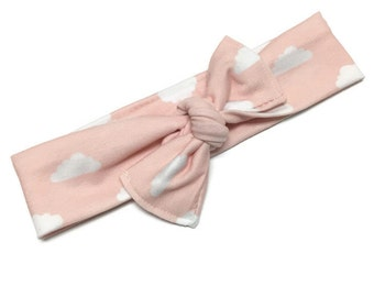 Pink Cloud Knot Headband