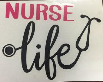Nurse Life-Nurse Decal- RN- Nurse Gift- Personalized Nurse Decal- Nurse Gift-Nurse Appreciation