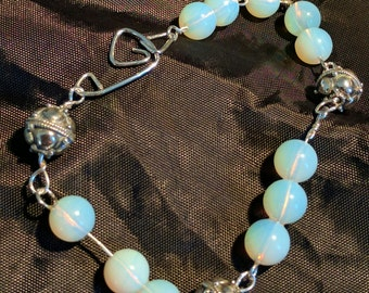 Opalite and bali bead bracelet.