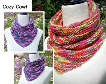 Knitting Pattern / Recipe for the Cozy Cowl in Worsted yarns