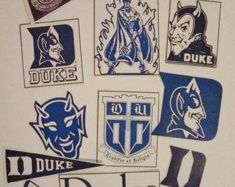 College Spirit Duke University Blue Devil Duke Blue Sticker Flakes/Dorm/Party/Planner
