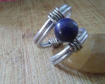 Wire wrapped simple ring