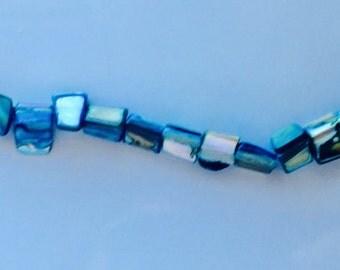 Blue Shell Bead Bracelet