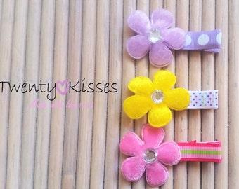 Baby flower hair clips,hair clip set,baby hair clips,hair clip flowers,baby hair accessory,hair barrette,kids hair clips,flower hair pins