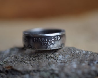 Coin Ring - US Size 6.5 - 2001 US 25 Cents - Maryland