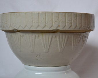 Vintage Large Salt Glaze Mixing Bowl (USA)