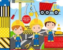 80% OFF SALE Construction clipart, Construction Boy Clipart, Constructions Truck,  Construction Papers, Truck clipart - CL133