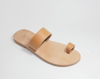 Handmade Greek Leather Sandals (37 - Natural leather)