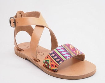 SALE -20% Greek leather sandals