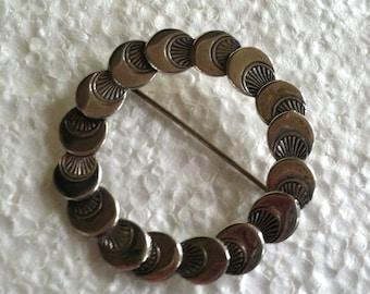 Sterling Silver Beau Circle Pin